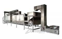 Industrial Continuous soybean/almond/nut roaster machine